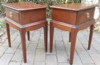 Pair Stag Mahogany Bedside Cabinets
